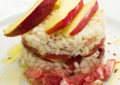 Ricetta bresaola: risotto con tartare Giò Porro e mele